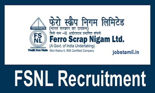 Ferro Scrap Nigam Limited Jobs Notification